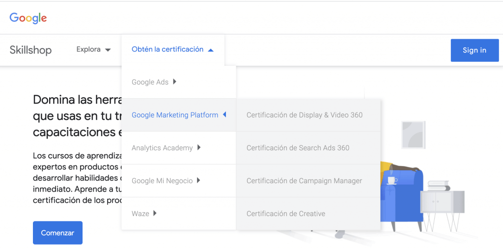 El Curso Google Marketing Platform de Skillshop de Google